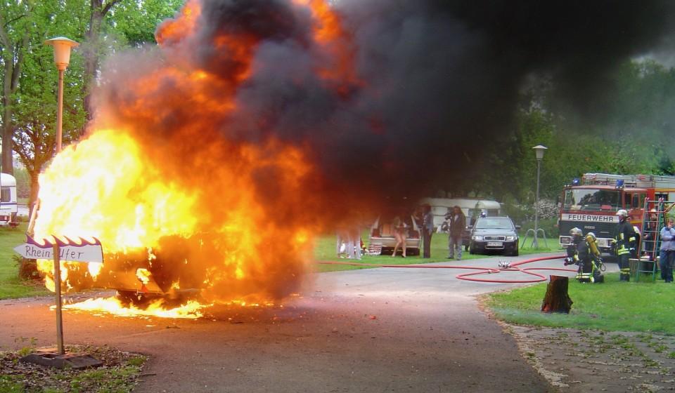 Wohnwagenexplosion